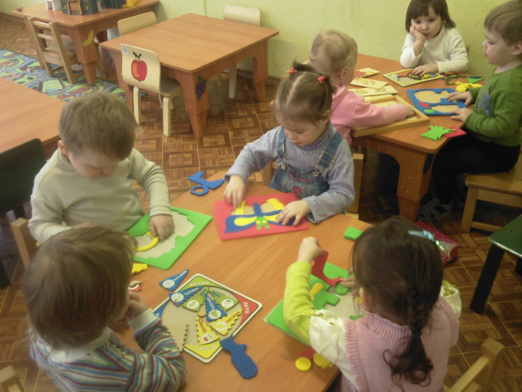 Фото занятий с детьми 2-3 лет